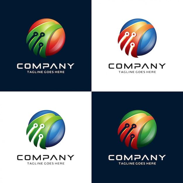 抽象的な3dイーグル、鷹、鷹、技術ロゴ Premiumベクター
