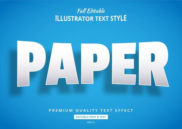 Бумага реалистичная 3d стиль текста эффект Premium векторы