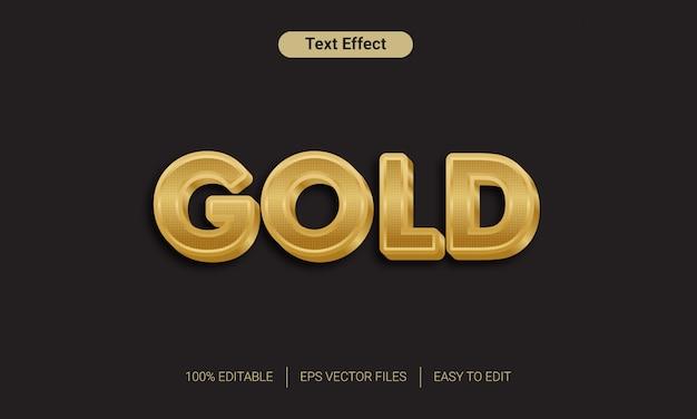 3d золотой текстовый эффект Premium векторы