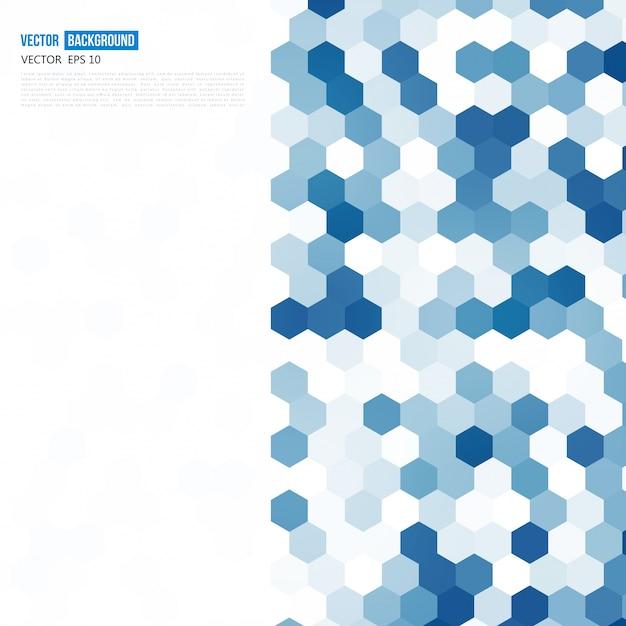 ベクトル抽象的な色3d六角形。 無料ベクター