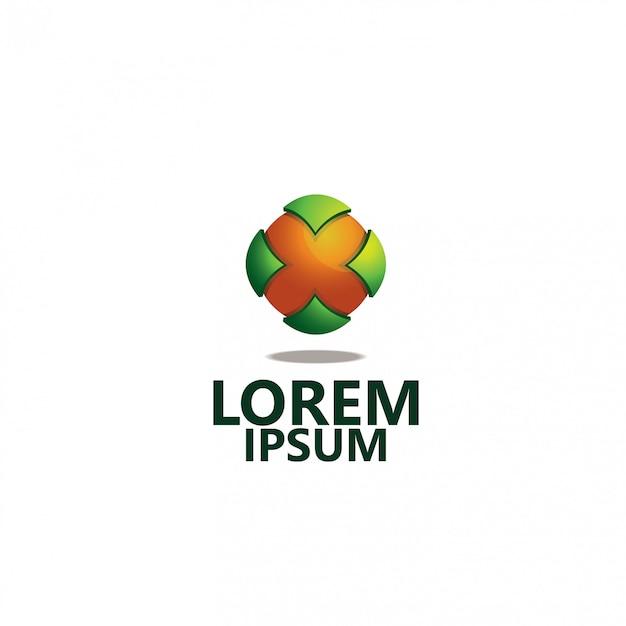 会社ロゴ3d Premiumベクター