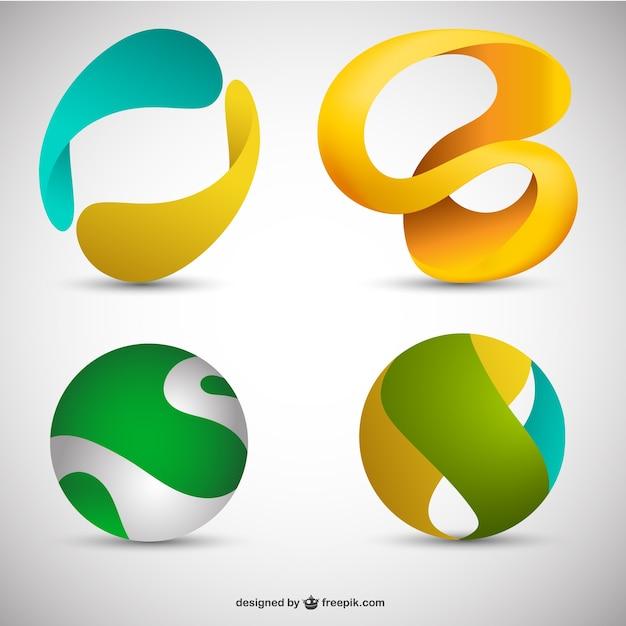 3d логотипы Бесплатные векторы