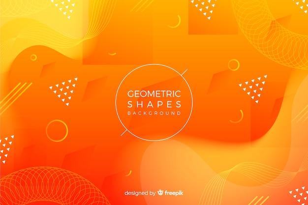 3d геометрические фигуры фон Бесплатные векторы