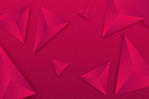 Стиль 3d треугольников для фона Бесплатные векторы