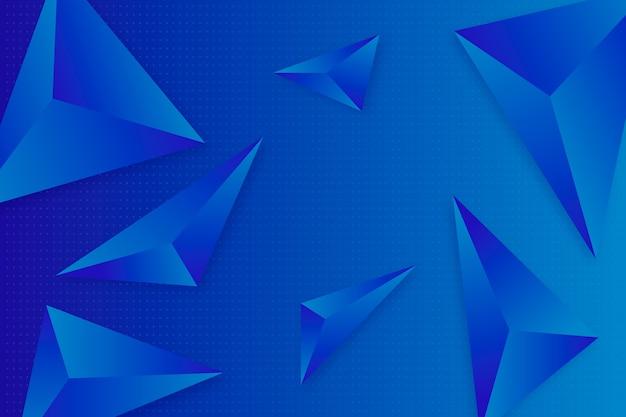 Стиль 3d треугольники для обоев Бесплатные векторы