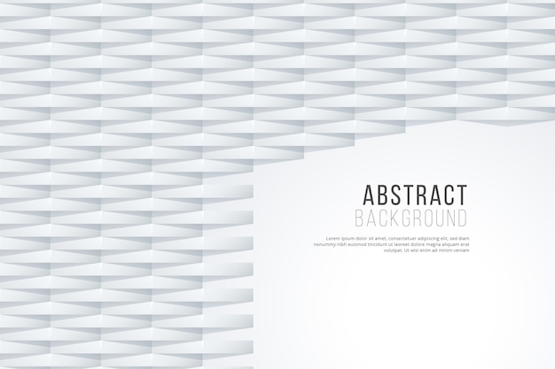 Белый абстрактный фон в 3d дизайн бумаги Бесплатные векторы