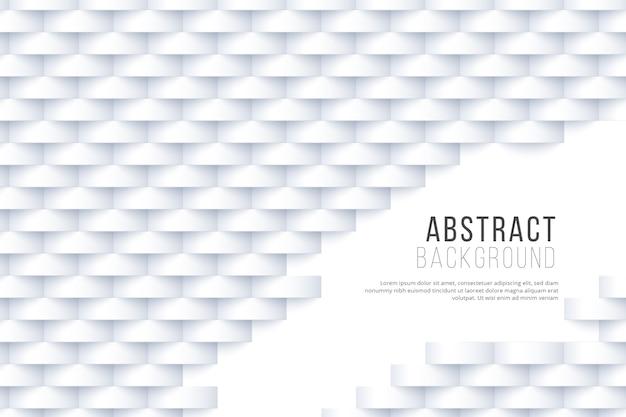 Белые абстрактные обои в 3d дизайне Бесплатные векторы