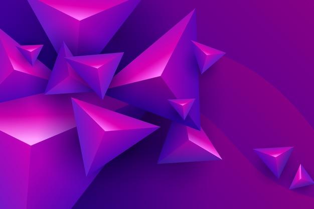 3d треугольник с яркими цветами Бесплатные векторы