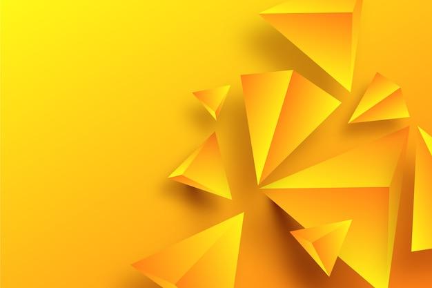 3d концепция геометрических форм для обоев Бесплатные векторы