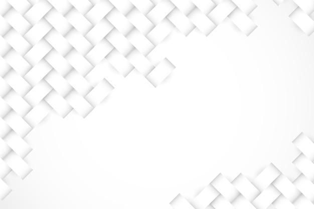 Белые обои в концепции 3d бумаги Бесплатные векторы