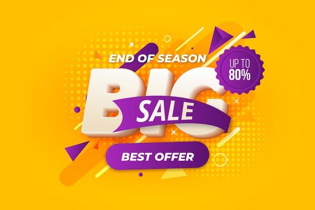 Красочный фон 3d продаж Бесплатные векторы