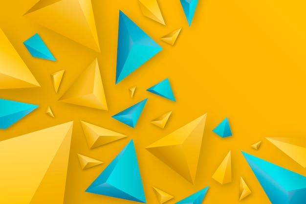 3d треугольник фон с яркими цветами Бесплатные векторы
