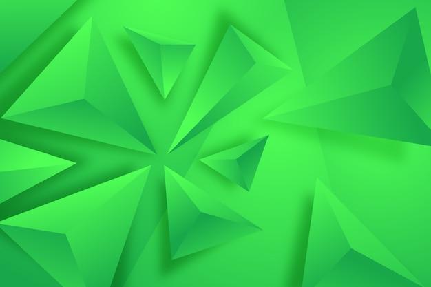 3d зеленый треугольник фон Бесплатные векторы