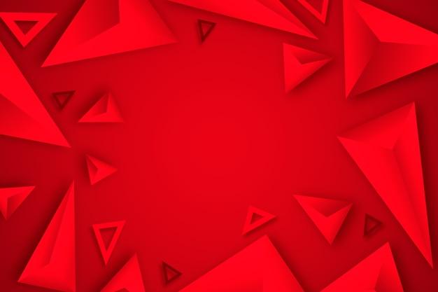 Красный треугольник фон 3d дизайн Бесплатные векторы