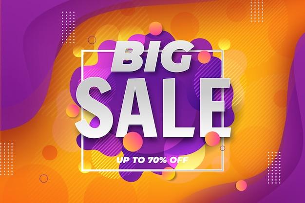 Большая распродажа 3d фон с эффектом жидкости Бесплатные векторы