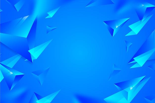 Яркие цвета фона 3d треугольников Бесплатные векторы