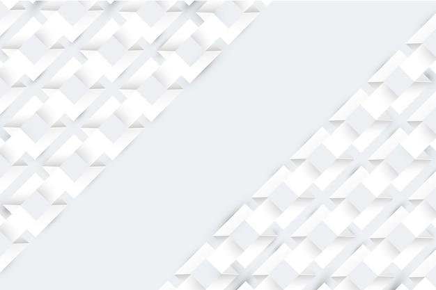 Белый абстрактный скринсейвер 3d стиль бумаги Бесплатные векторы