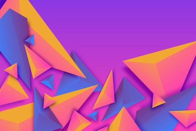 バイカラーの3d三角形の壁紙 無料ベクター