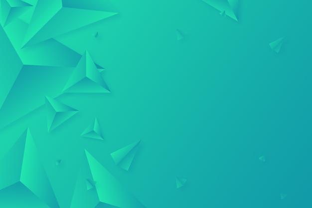 Яркие цвета для 3d треугольника зеленый фон Бесплатные векторы