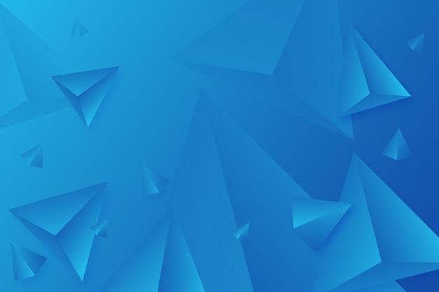 Яркие цвета для 3d треугольника синий фон Бесплатные векторы