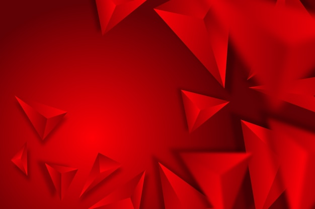 Красочный фон с 3d треугольниками Бесплатные векторы