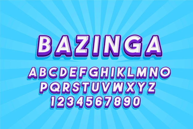 Комикс 3d алфавит стиль Бесплатные векторы