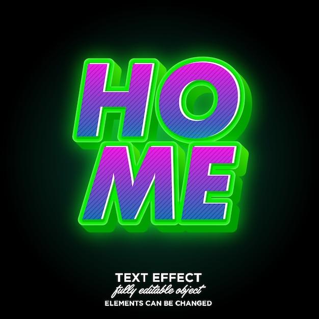緑色の光でモダンな3dフォントの効果 Premiumベクター