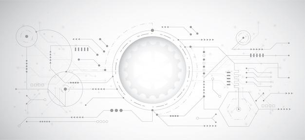 Абстрактный 3d дизайн фона с технологией точка и линия Premium векторы
