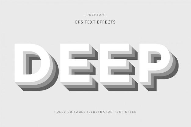 Глубокий 3d текстовый эффект Premium векторы