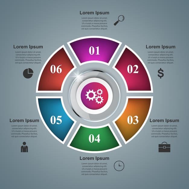 3d инфографики шаблон дизайна и значки маркетинга Premium векторы
