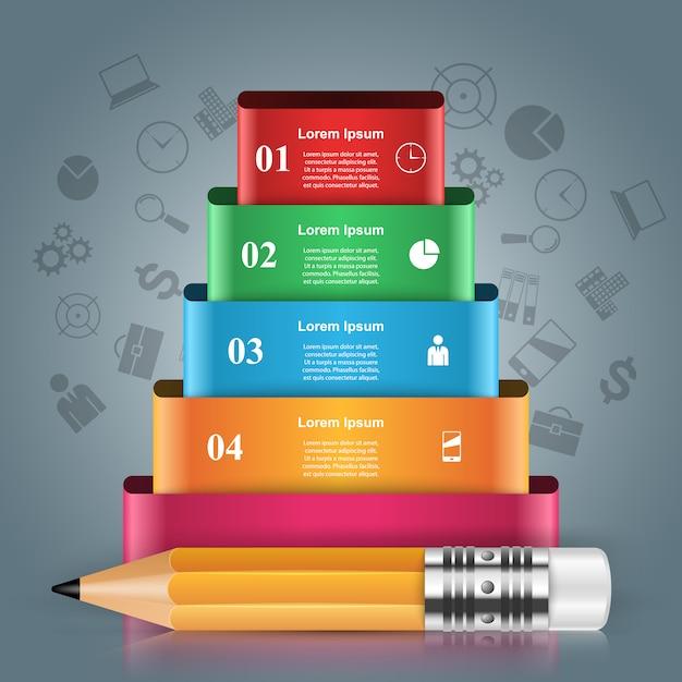 3d инфографики дизайн шаблона Premium векторы