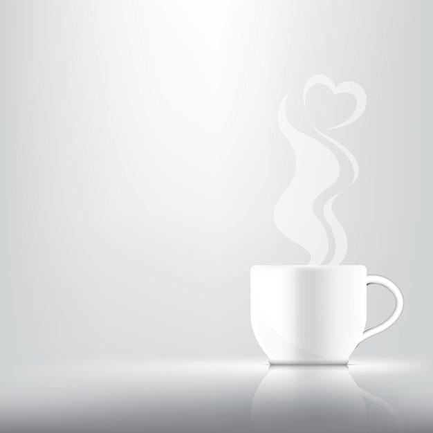 3dリアルなコーヒーまたは紅茶 Premiumベクター
