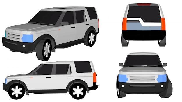 3d автомобиль вектор Premium векторы