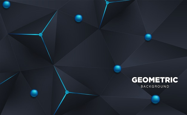 Абстрактный 3d многоугольник треугольник с темным Premium векторы