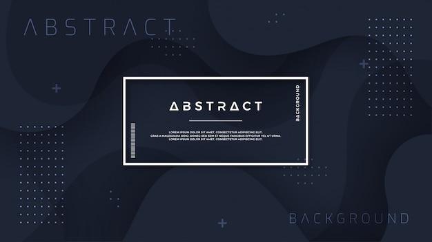 Динамический черный текстурированный фон в стиле 3d. Premium векторы
