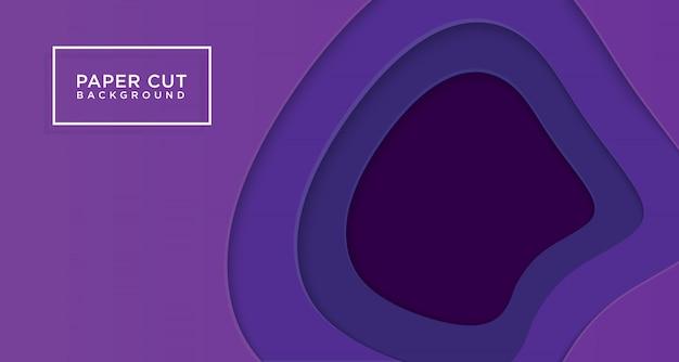 Горизонтальная предпосылка 3d фиолетового отрезка бумаги Premium векторы