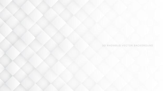 3d ромб белый абстрактный фон Premium векторы