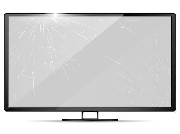 3d реалистичный сломанный экран Premium векторы