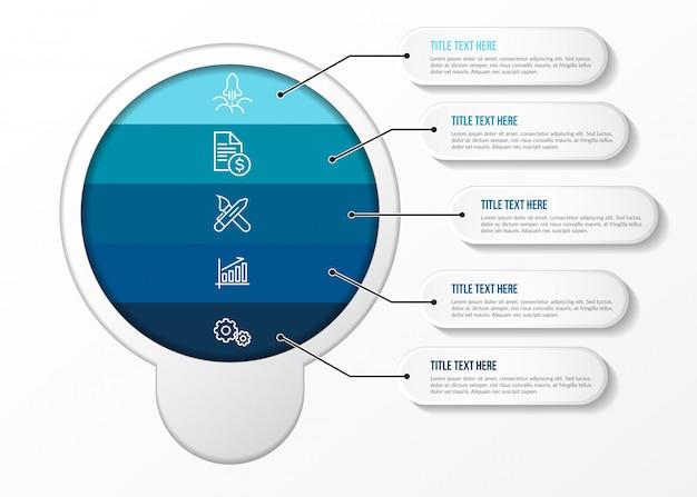 現代のインフォグラフィック3dテーブル Premiumベクター