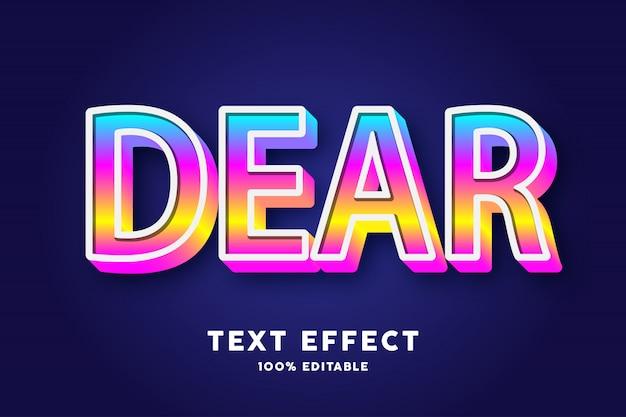 3d текст градиент поп стиль, текстовый эффект Premium векторы