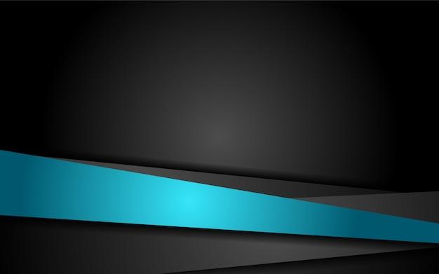 青い線の形をした抽象的な3dオーバーラップレイヤーの背景 Premiumベクター