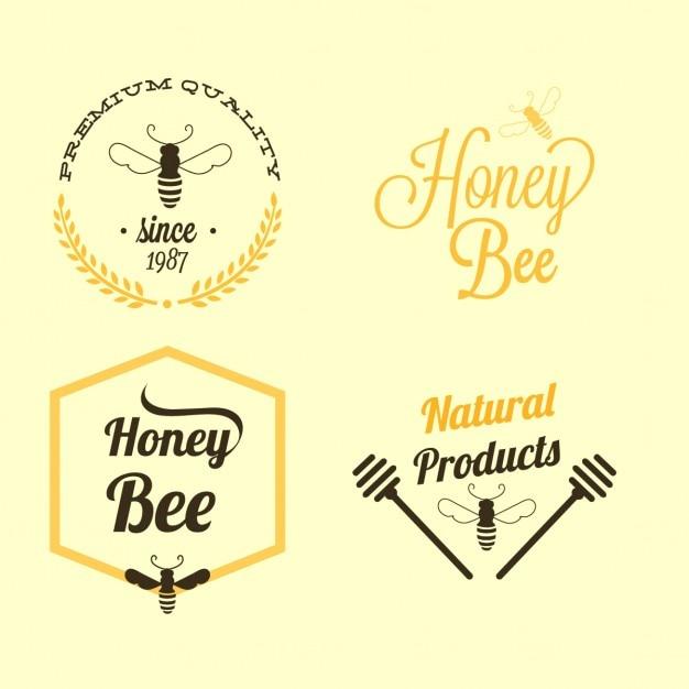 蜂蜜約4バッジ 無料ベクター