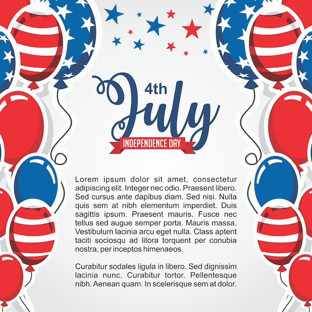 4 july independence day united states of america greeting card 4 july independence day united states of america greeting card premium vector m4hsunfo