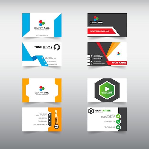 4 set business card template vector premium download 4 set business card template premium vector reheart Images