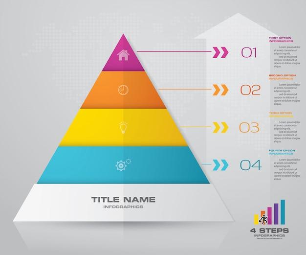 4 steps pyramid presentation chart eps10 vector premium download