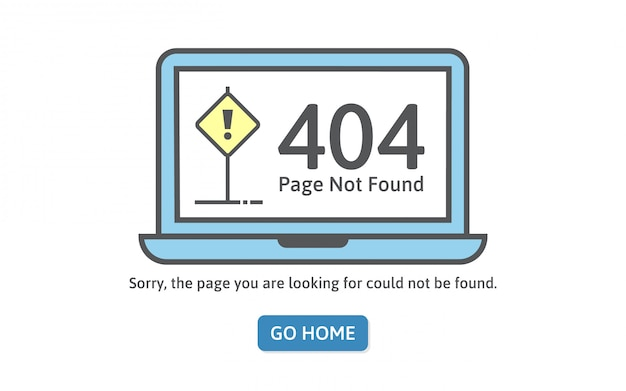 404 ошибка концепции в стиле линии. страница не найдена ошибка на синем ноутбуке. Premium векторы