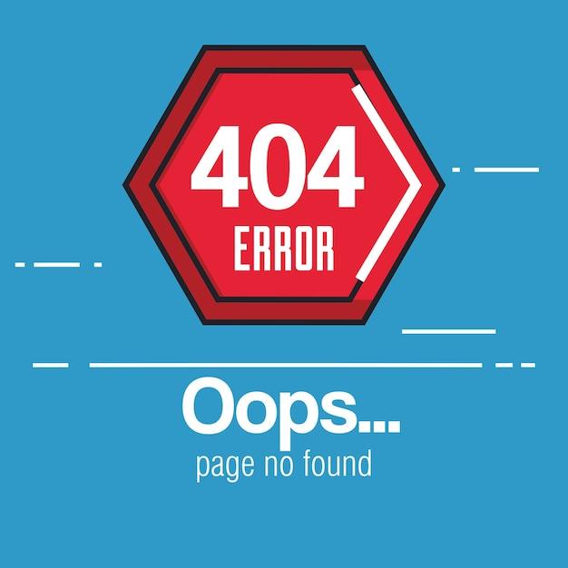 404 connection error icons Premium Vector