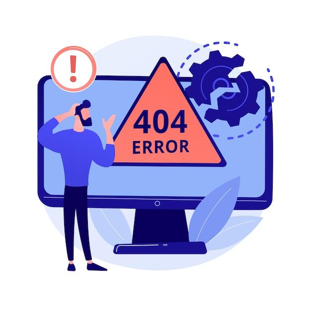 Иллюстрация абстрактной концепции ошибки 404 Бесплатные векторы