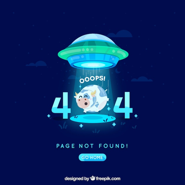 404 error background in flat style Free Vector