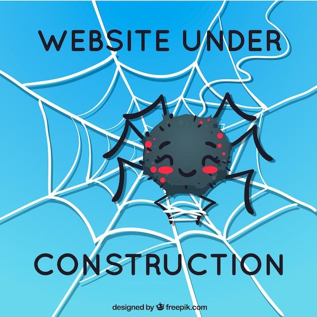404 ошибка фона с пауком Бесплатные векторы